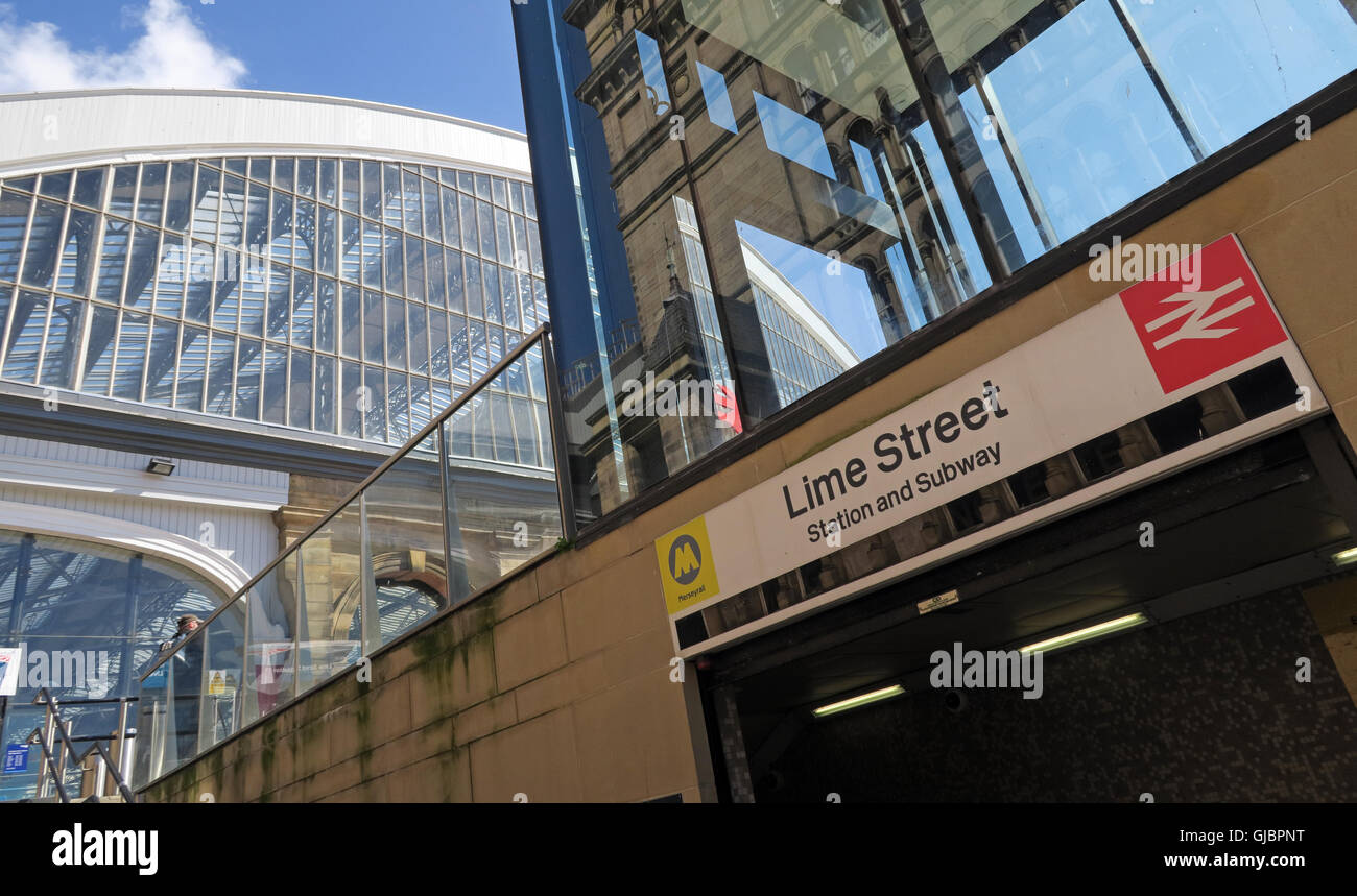Laden Sie dieses Alamy Stockfoto Liverpool Lime Street, Bahnhof, Stadtzentrum Liverpool, Merseyside, England - GJBPNT