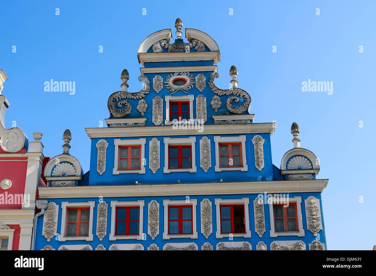 Impressionen: Heumarkt, Altstadt - Stettin, Polen. Stockbild