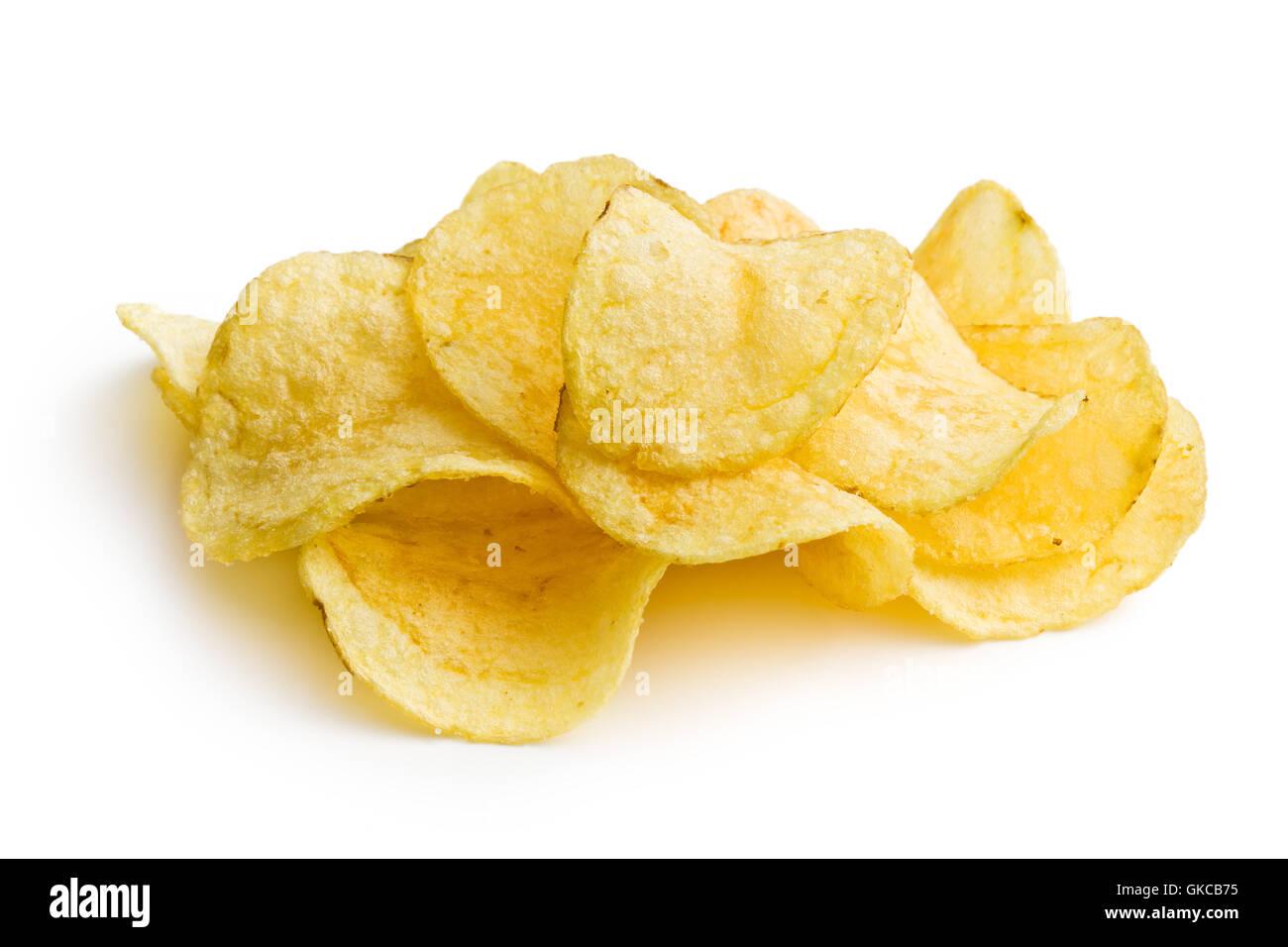 ungesunde Kartoffelchips Stockbild