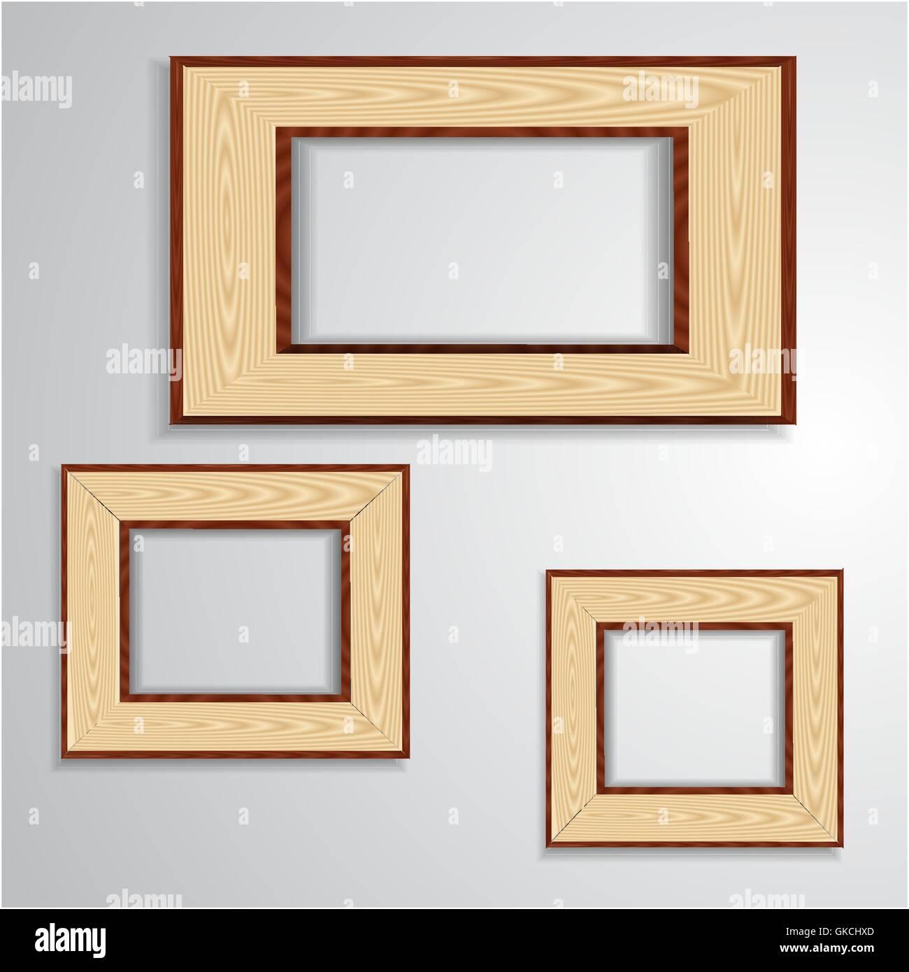 Vintage isolierten leeren frame Stockbild