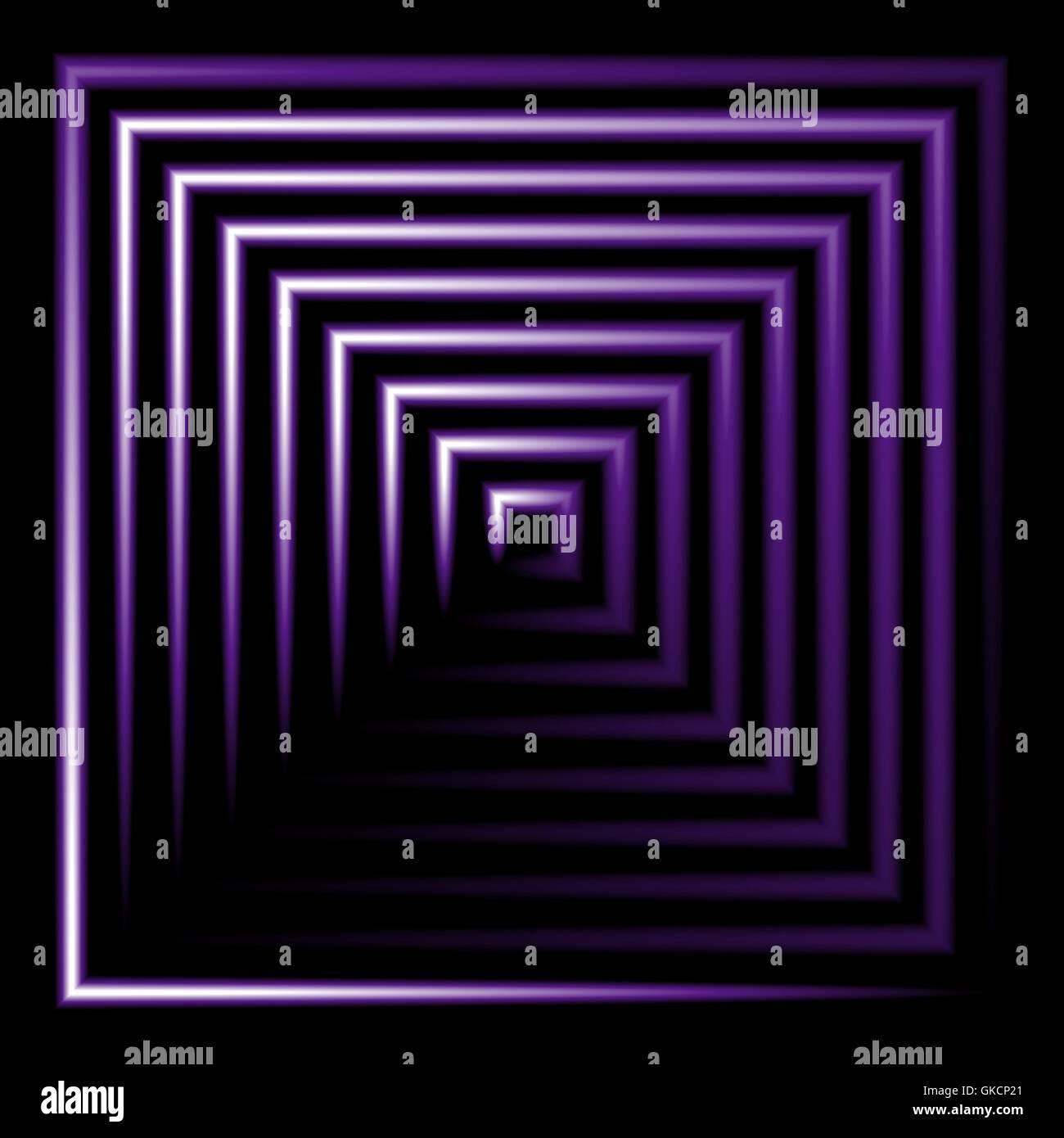Lila Neon quadratische Vektor Hintergrund Stockbild