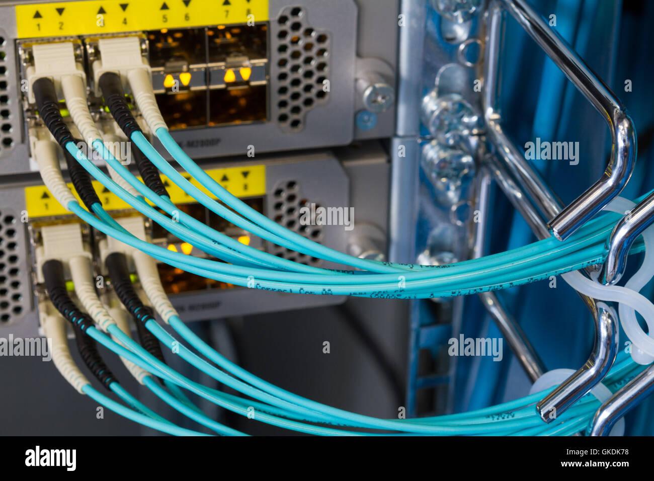 Kommunikationsverbindungen übertragen Stockbild