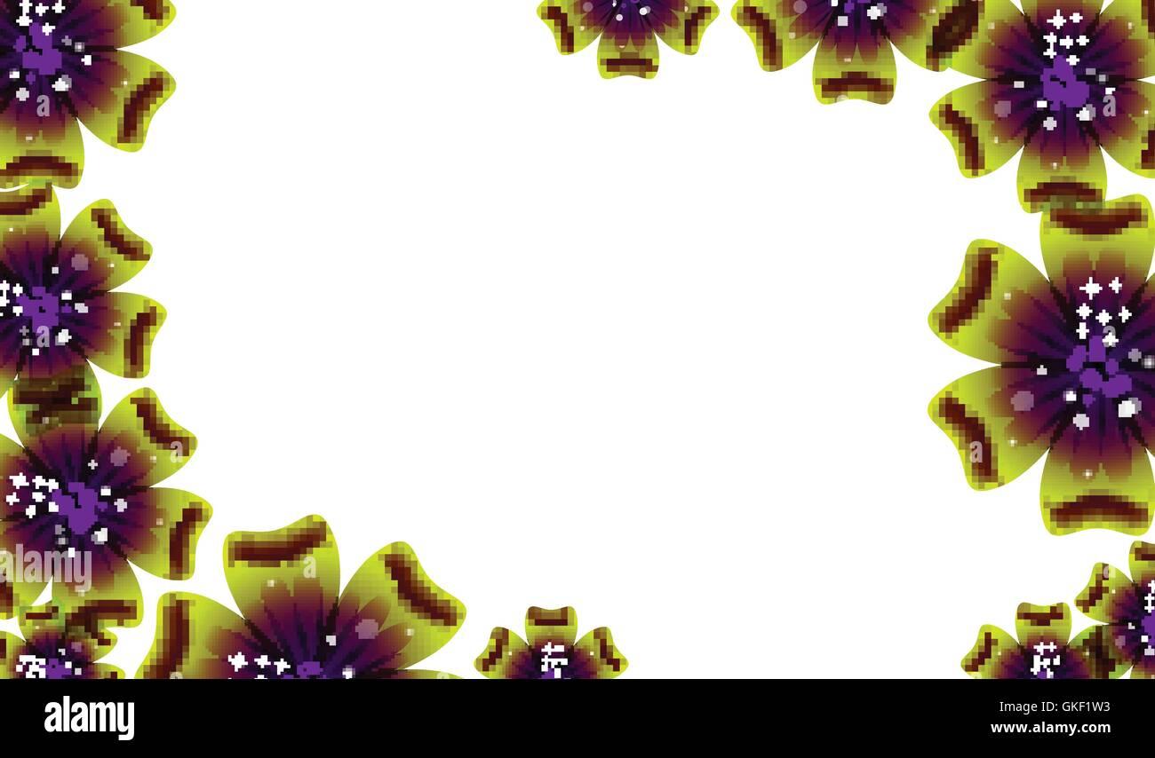Broschüre Design, Vektor abstrakten Hintergrund mit schönen farbigen Blumenmuster Stockbild