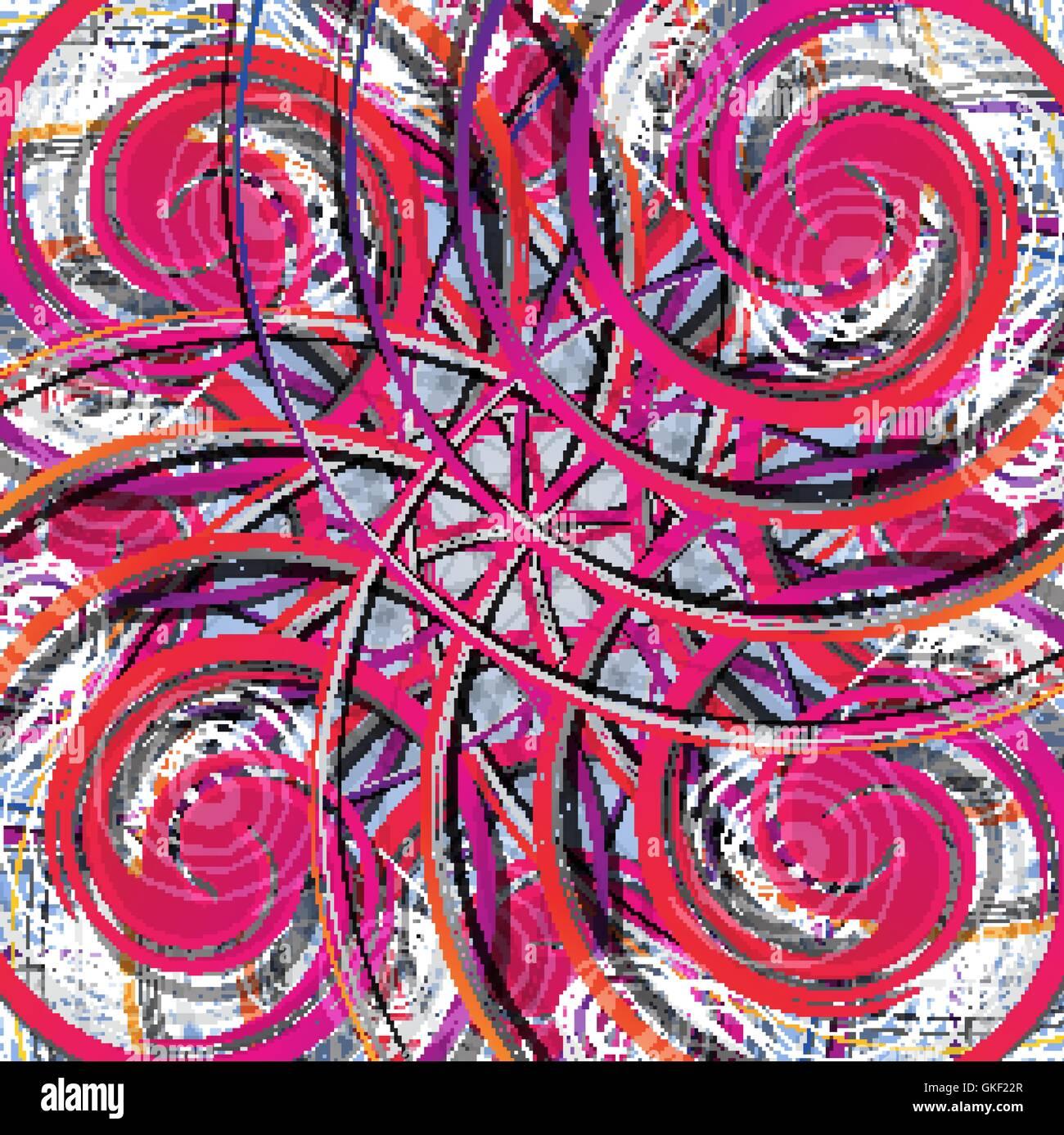 Abstrakten farbigen Hintergrund. Moderne Design-Pattern. Rot, gelb, rosa, lila, helle Linie Stockbild
