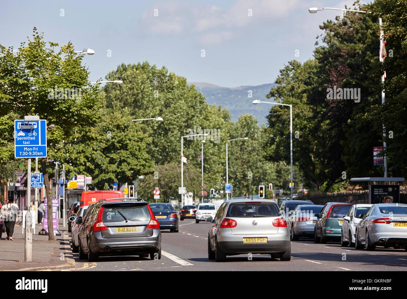 Die Ormeau Road belfast Stockbild