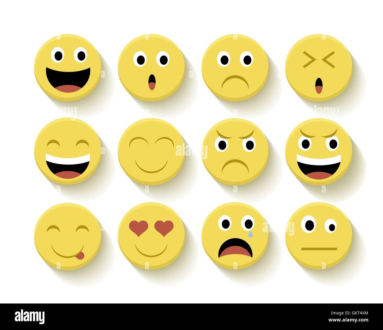 emoji emoticon smiley vector set stockfotos emoji. Black Bedroom Furniture Sets. Home Design Ideas