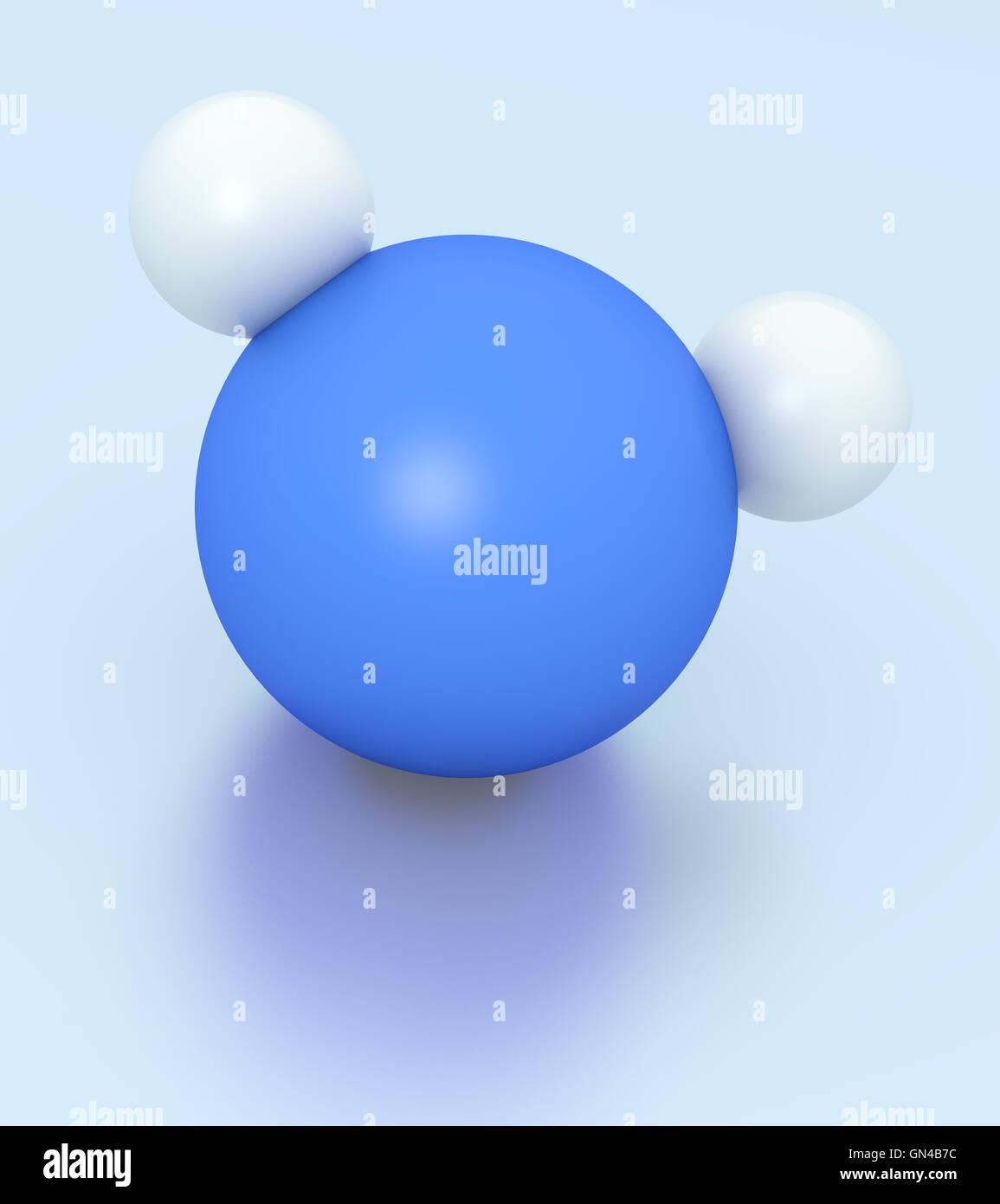 H2O Molekül Stockbild