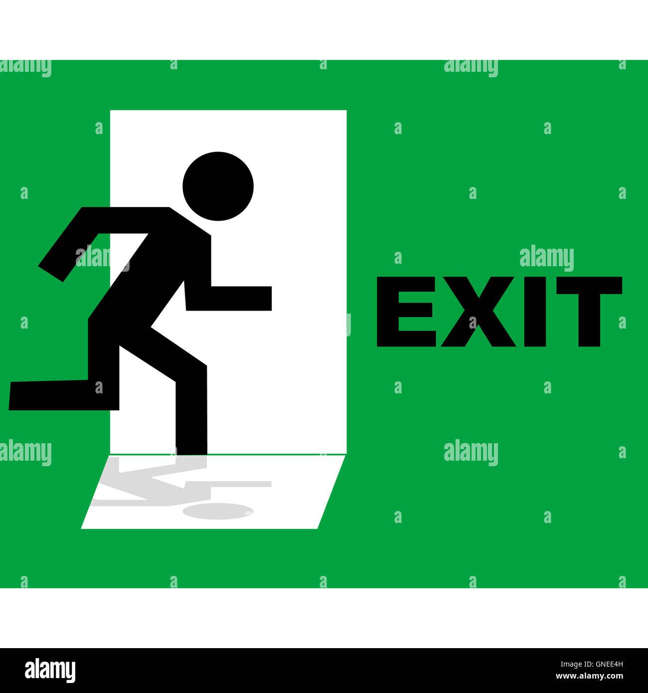 emergency exit door sign stockfotos emergency exit door sign bilder seite 3 alamy. Black Bedroom Furniture Sets. Home Design Ideas