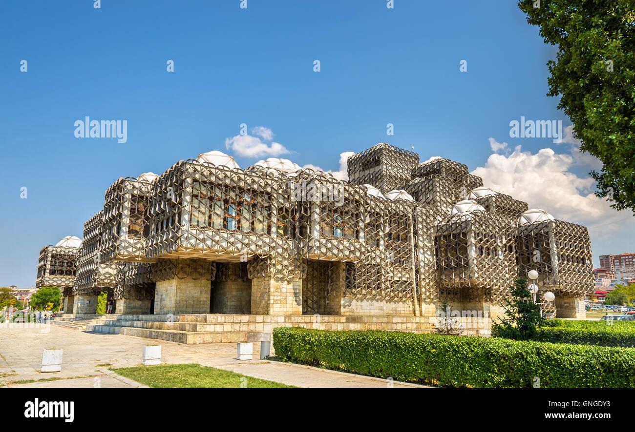 Die öffentliche Bibliothek in Prishtina - Kosovo Stockbild