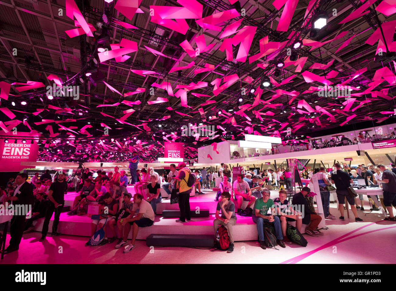 Die Deutsche Telekom stehen auf 2016 IFA (Internationale Funkausstellung Berlin), Berlin, Deutschland Stockbild