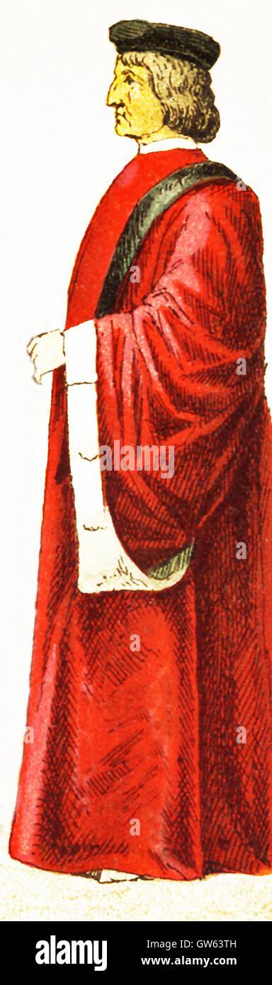 Die italienische Figur hier vertreten ist, eines venezianischen Senators und Termine zu A.D. 1400.The Abbildung Stockbild