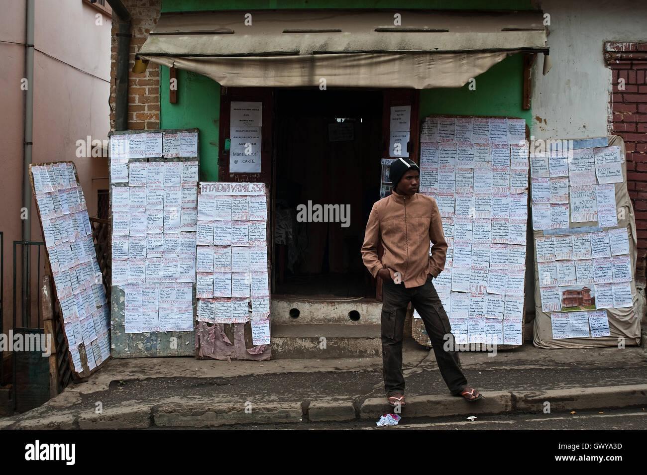 Immobilienagentur (Madagaskar) Stockbild