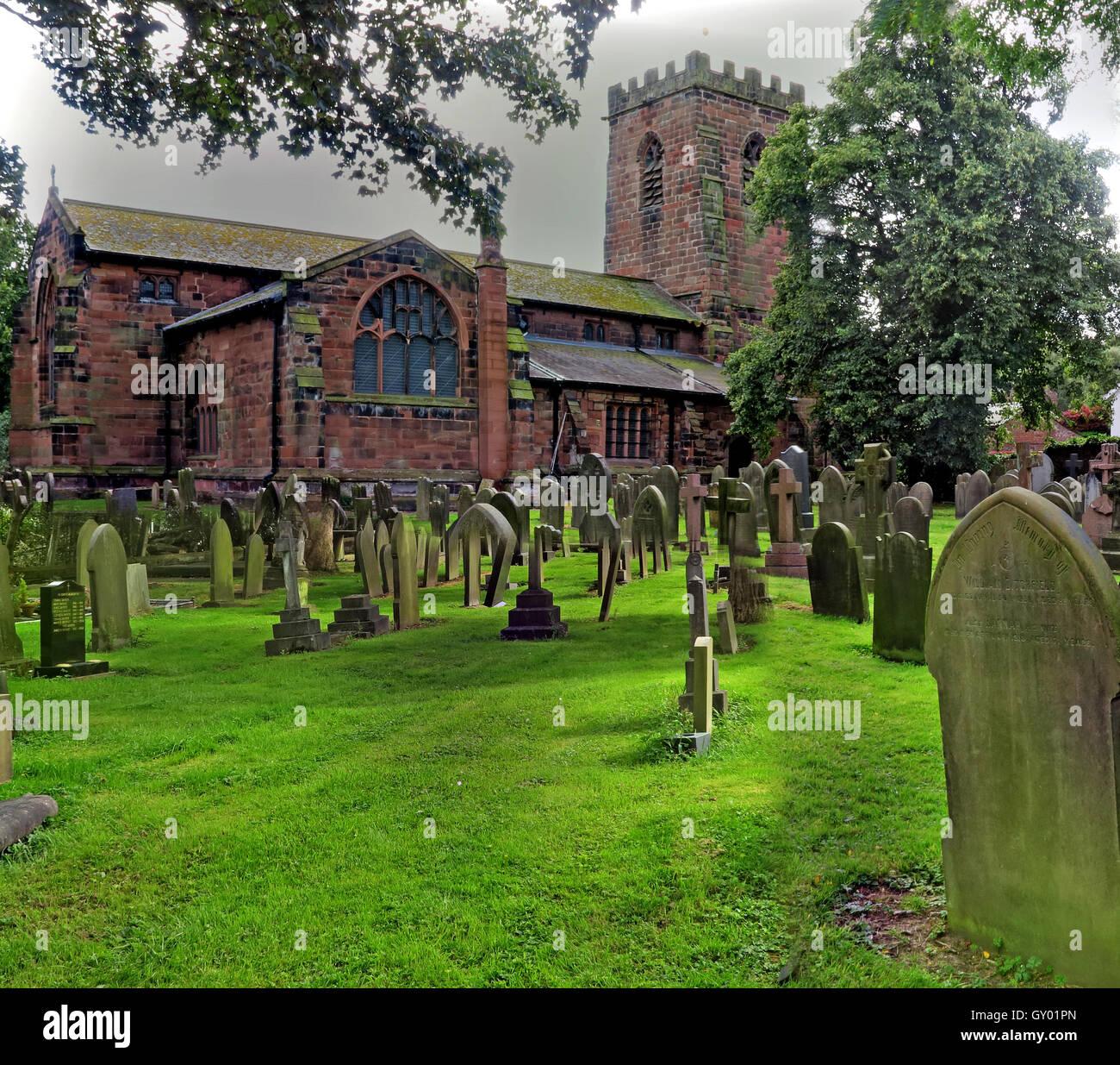 Laden Sie dieses Alamy Stockfoto Außenseite des St Wilfrids Kirche, Grappenhall, Warrington, Cheshire England UK - GY01PN