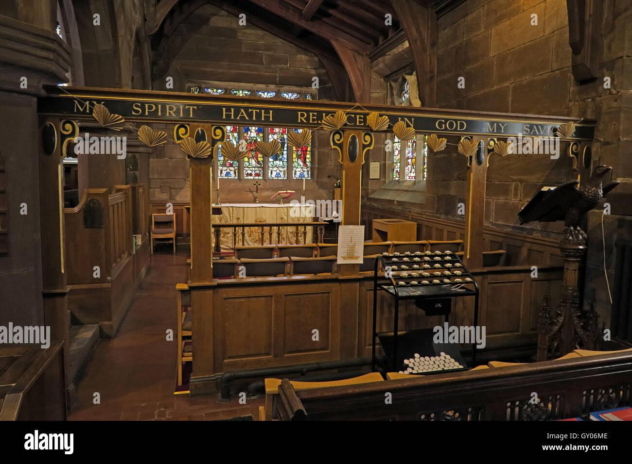 Laden Sie dieses Alamy Stockfoto Str. Wilfrids Kirche Grappenhall - Marienkapelle, Warrington Cheshire - GY06ME