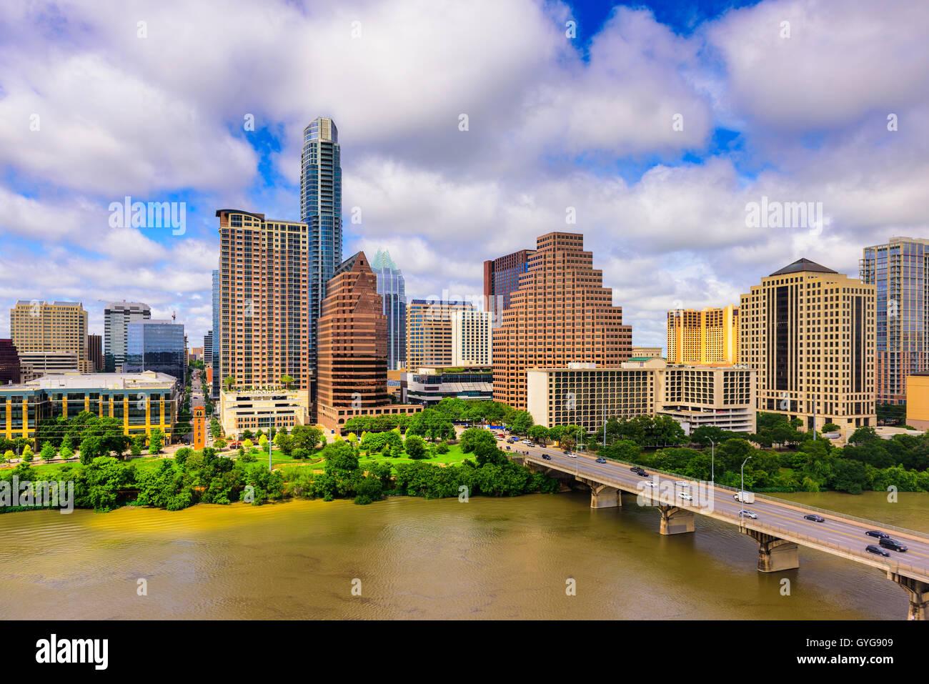 Austin, Texas, USA Skyline der Innenstadt. Stockbild