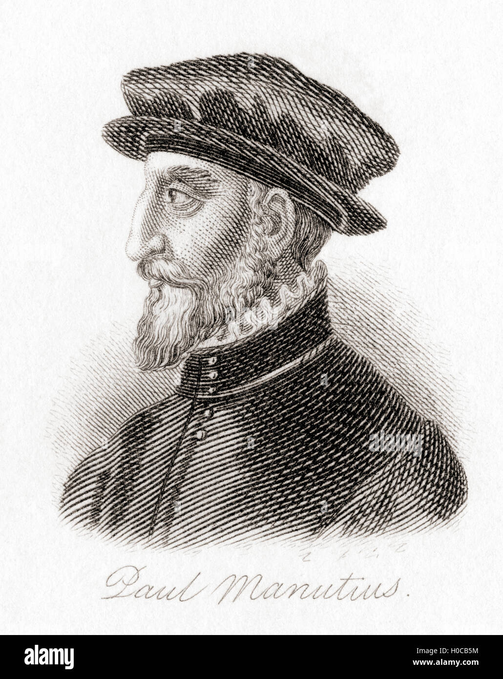 Paulus Manutius, 1512-1574.  Venezianischen Drucker. Stockbild