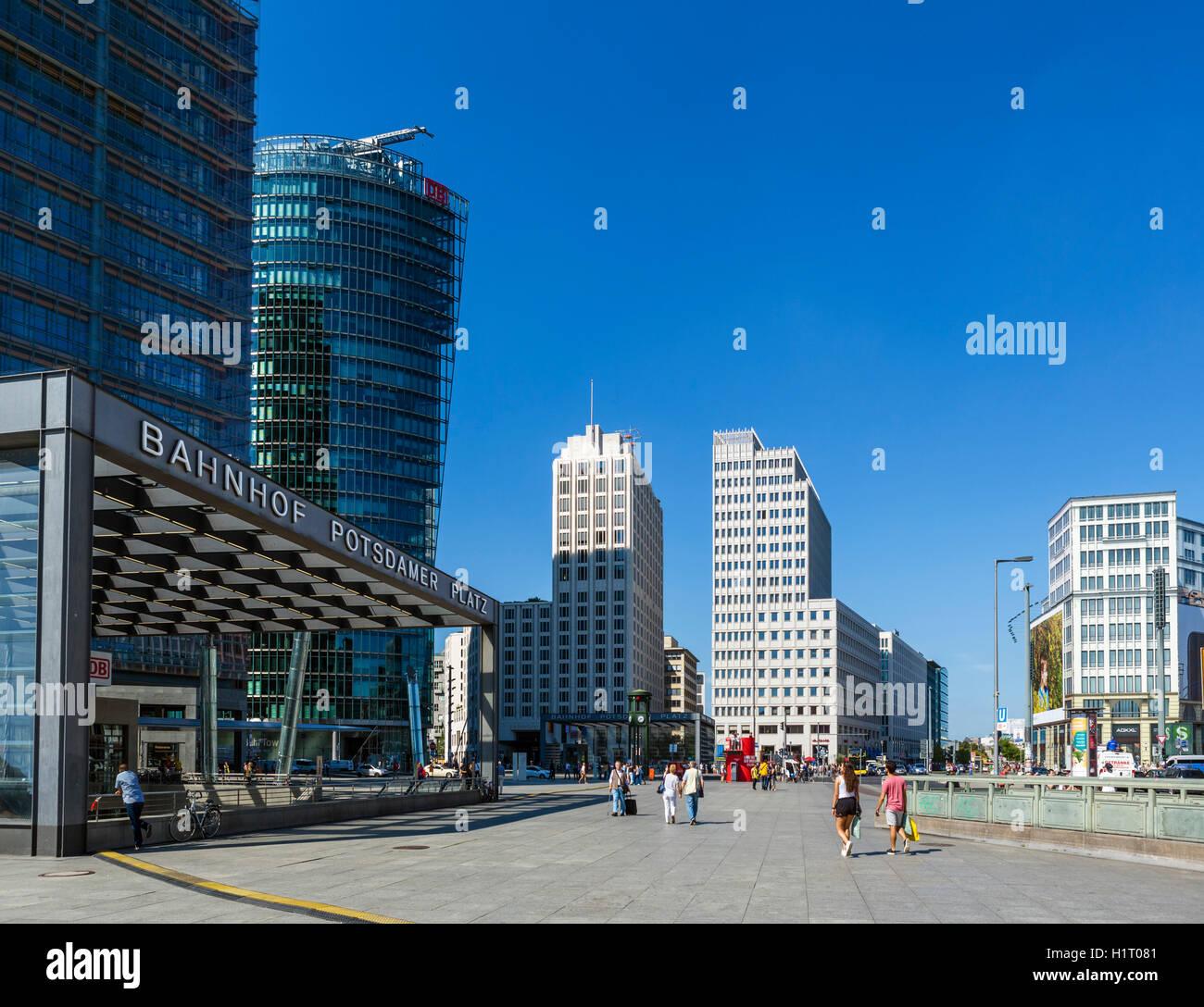 Potsdamer Platz, Berlin, Deutschland Stockbild
