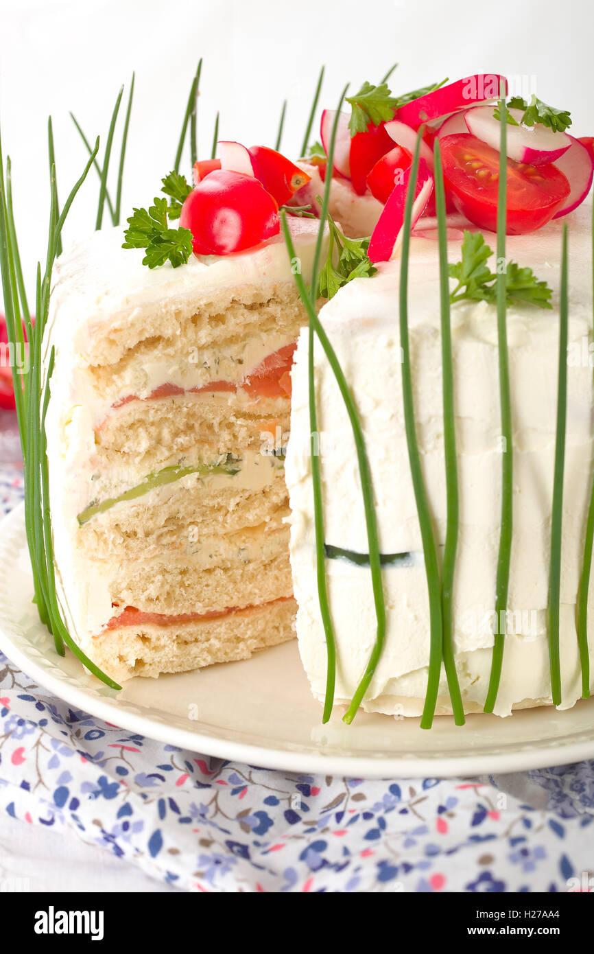 Sandwich-Kuchen Stockbild