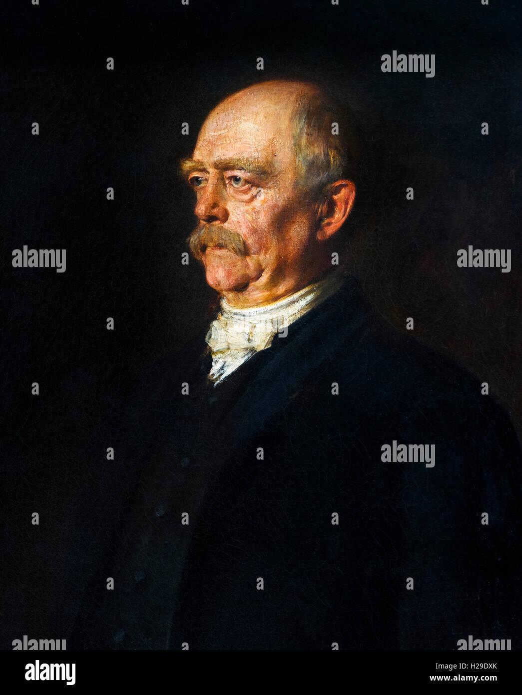 Otto von Bismarck: (1815-1898), Porträt von Franz von Lenbach, Öl auf Leinwand, 1884. Stockbild