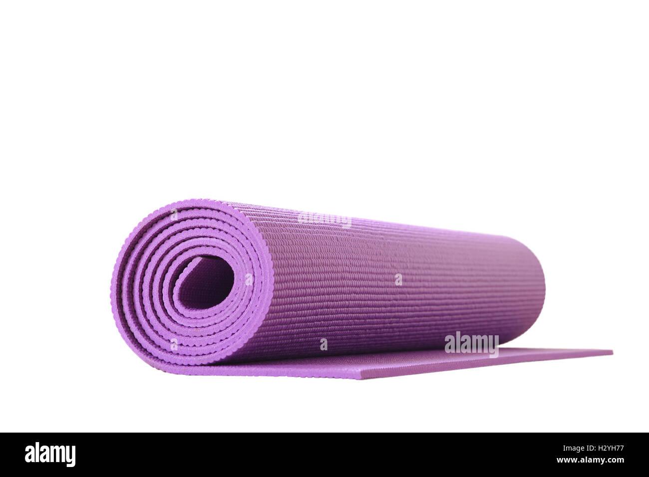 Yogamatte isoliert Stockbild