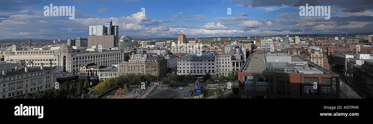 Laden Sie dieses Alamy Stockfoto Manchester City breite Panorama, Lancashire, England, tagsüber - H3TPH9