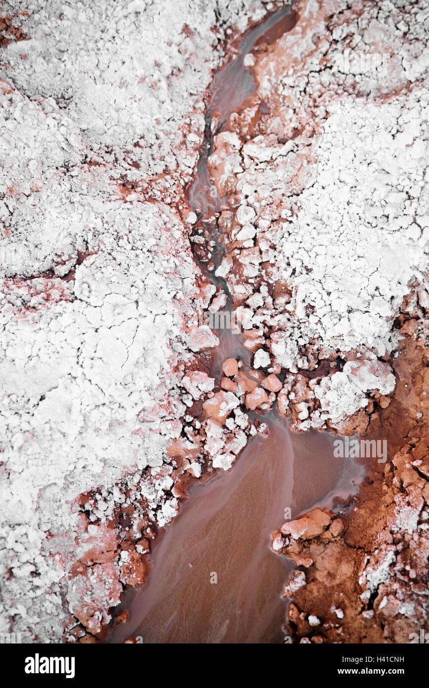 Einen schlammigen Strom im südlichen Utah Stockbild