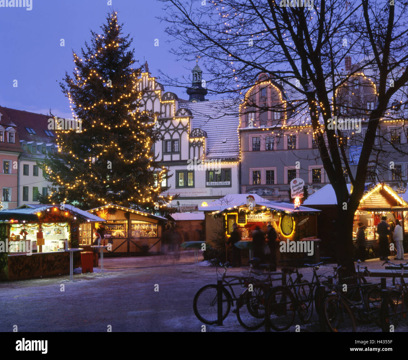 christmas market in weimar stockfotos christmas market. Black Bedroom Furniture Sets. Home Design Ideas