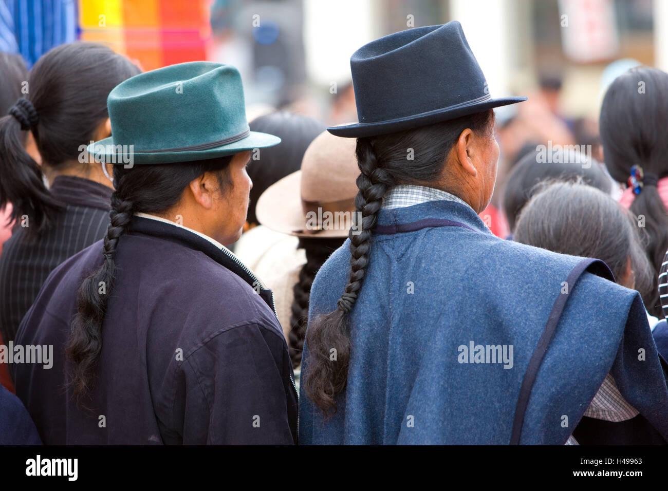 Ecuador, Provinz Cotopaxi, Pujilí, Markt, Männer, Südamerika, Cotopaxi, einheimische, Menschen, Einkaufen, Stockbild