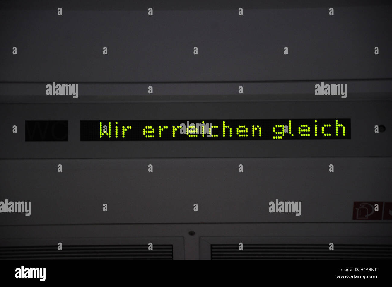 Deutschland, Niedersachsen, Regionalzug, Ziel-Tipp, Stockbild