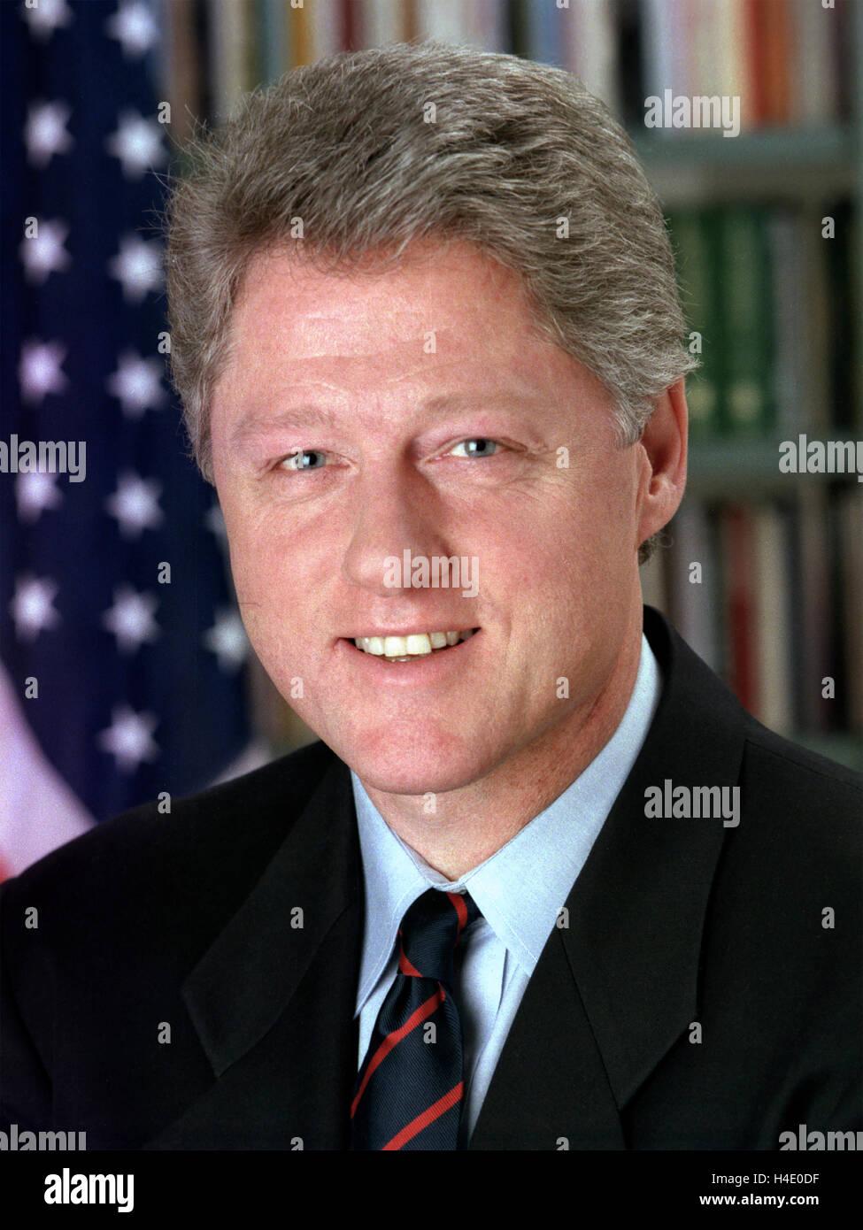 Bill Clinton (b.1946), 42. Präsident der USA, Januar 1993 Stockbild