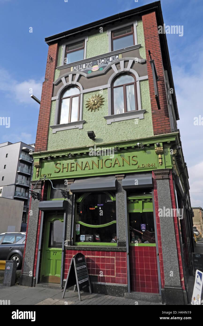 Laden Sie dieses Alamy Stockfoto Shenanigans Pub, McDonalds Bierstube, Smithfield St, Liverpool, Merseyside, Großbritannien - H4HN19