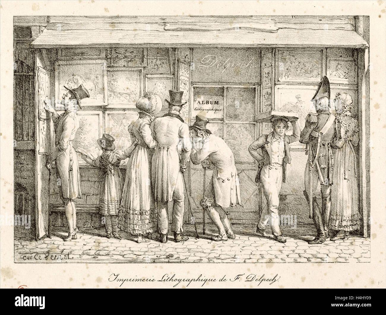 Carle Vernet, Französisch (1758-1836), lithographischen Drucken Haus ...