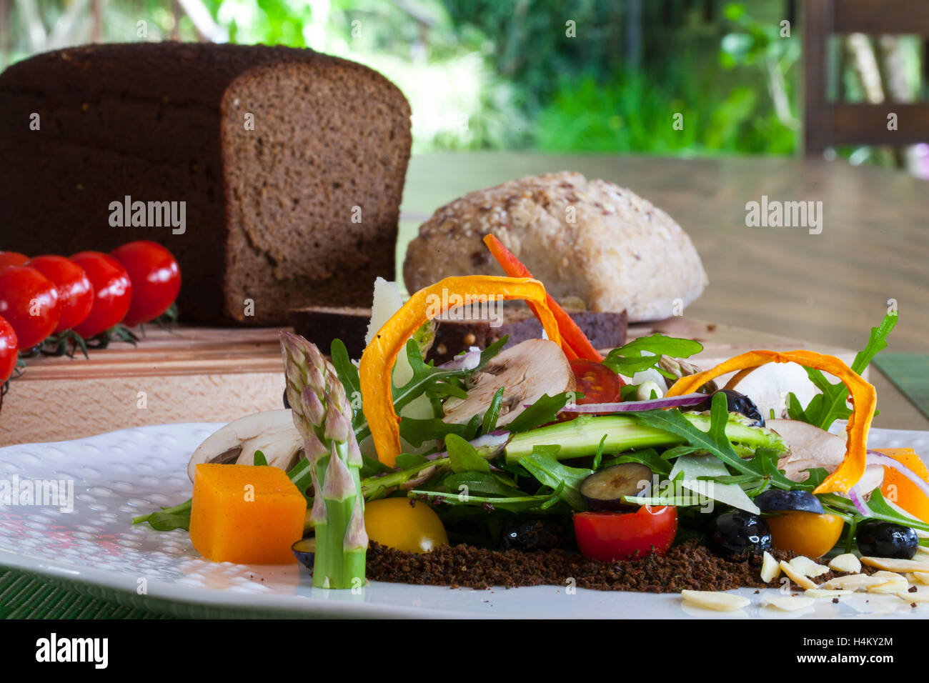 Salat, gesunde Ernährung, Fine dining Stockbild