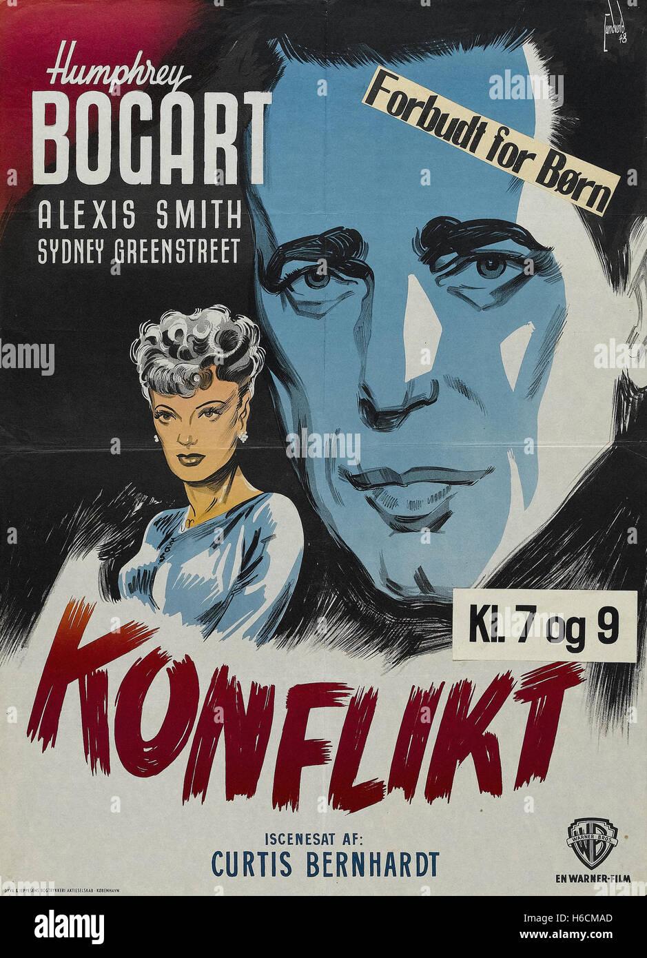 Konflikt - deutsches Filmplakat- Stockbild