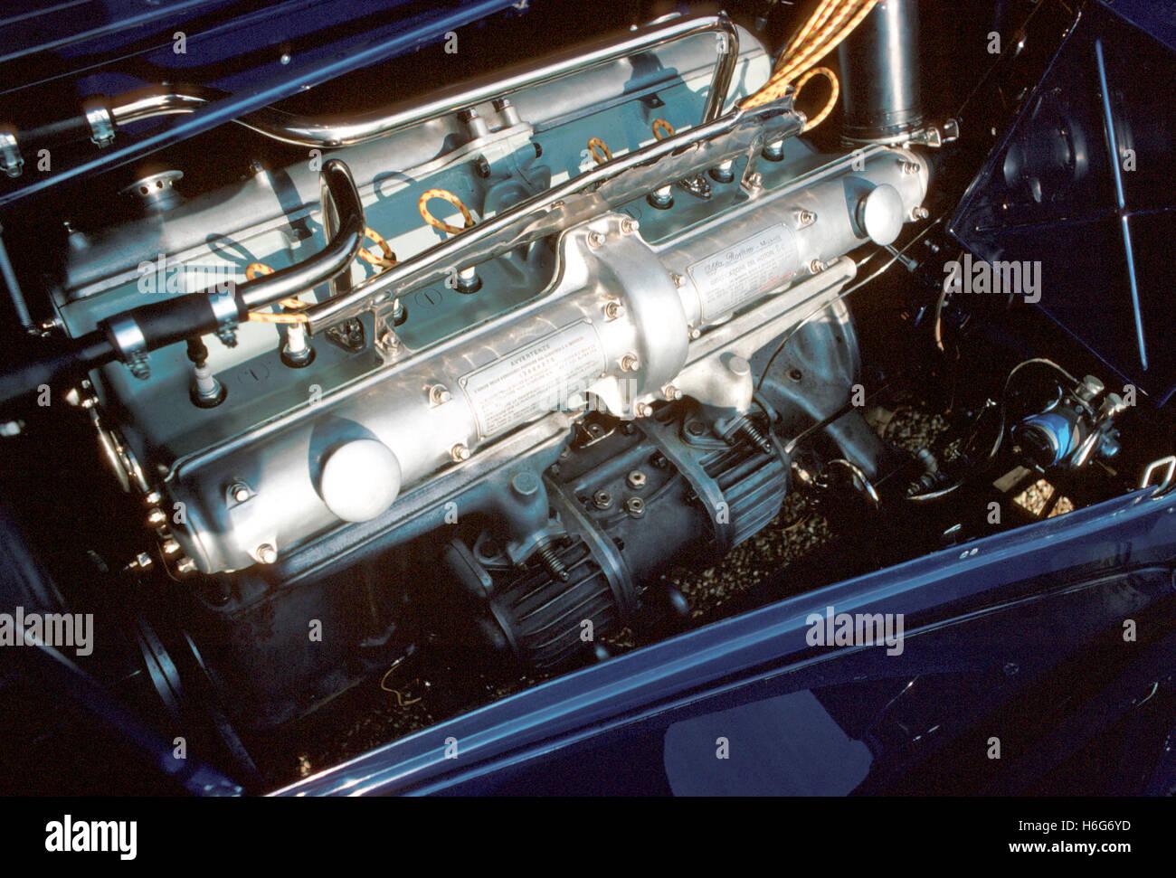 Alfa 8C 2,9 Motor Stockbild