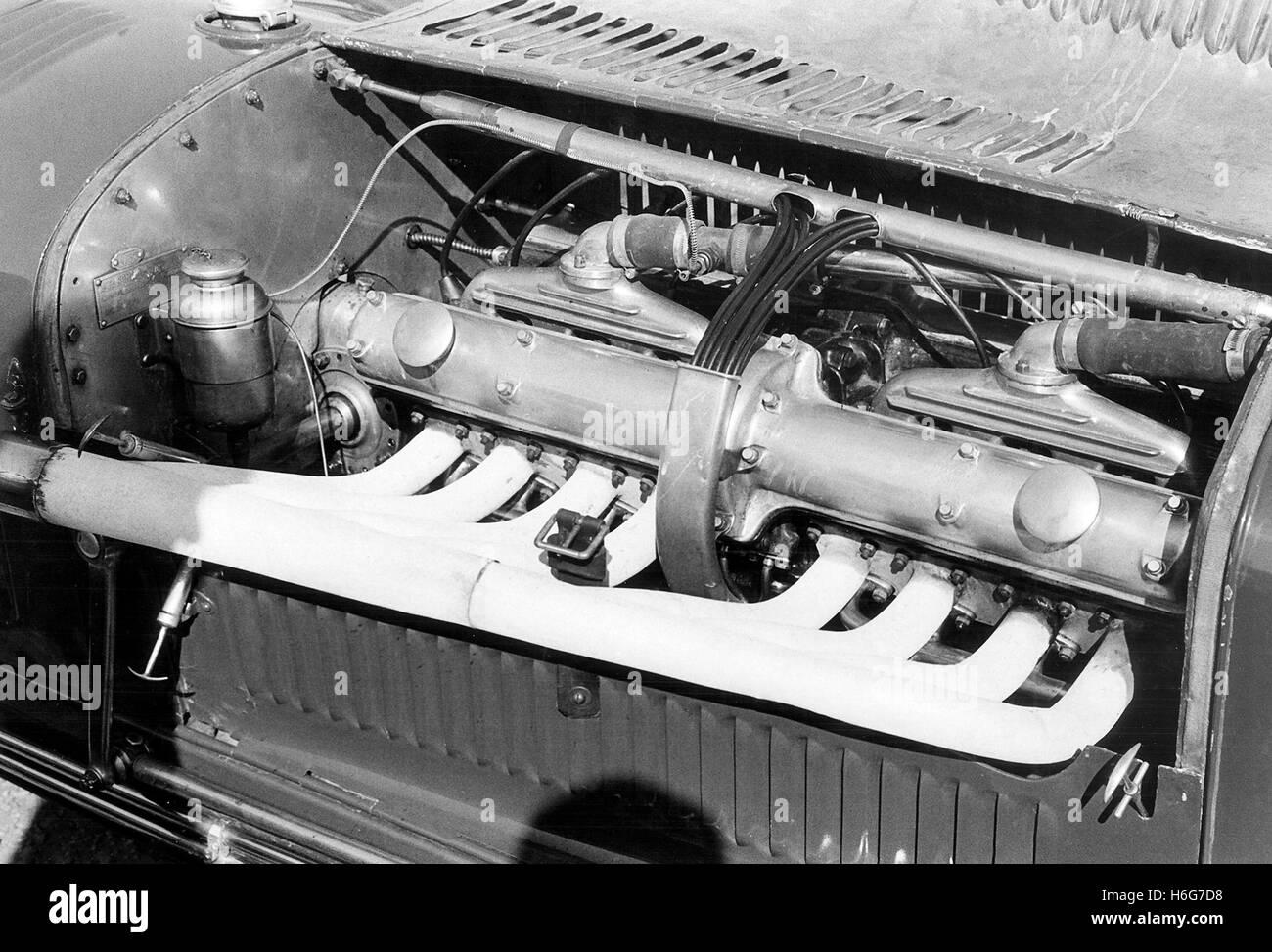 Alfa Romeo 8C Motor Stockbild