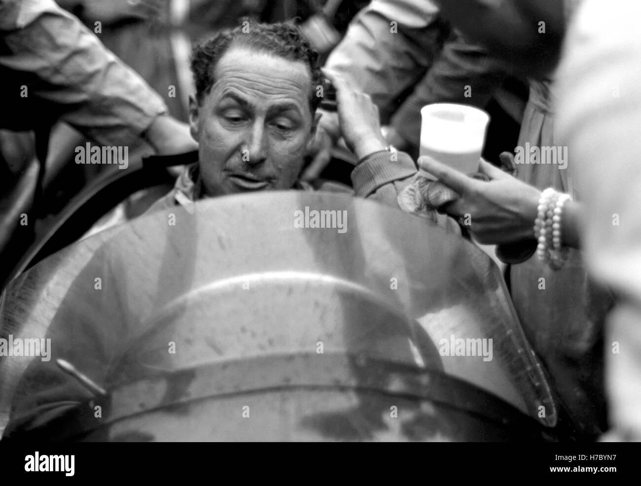 1956 Jack Fairman Motorsport-Fahrer britischer GP Silverstone UK Stockbild
