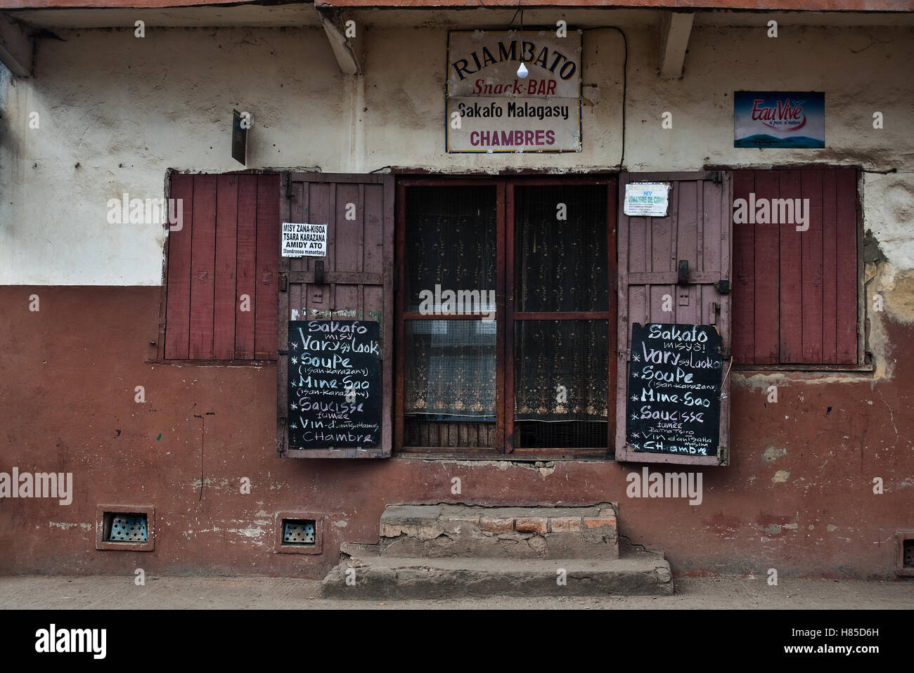 Eingang ein billiges Restaurant (Madagaskar) Stockbild