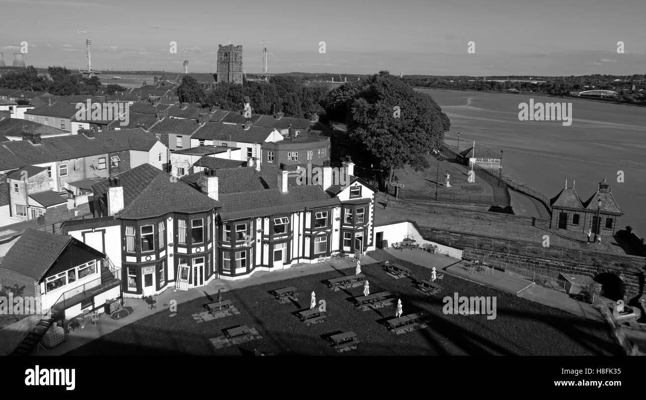 Laden Sie dieses Alamy Stockfoto Die mersey Hotel, Widnes West Bank, Cheshire, England, Großbritannien - H8FK35