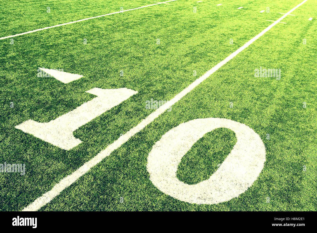 10-Yard-Linie Stockfoto