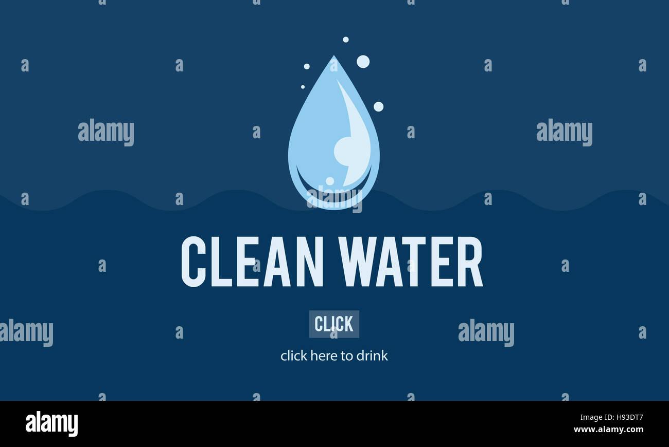 Sauberes Wasser Alternative Energiekonzept H2o Stockbild