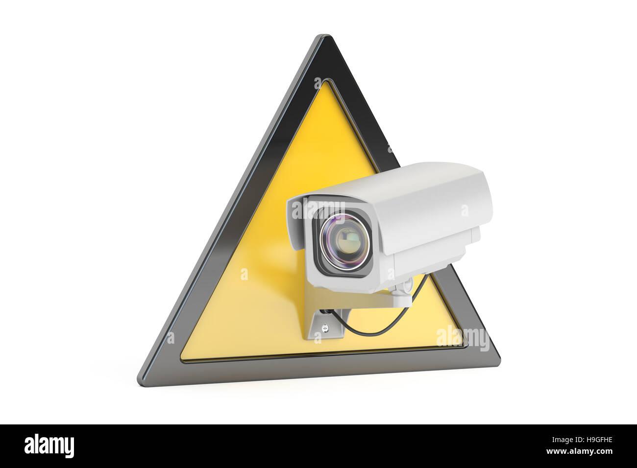 cctv kamera video berwachung schilder 3d rendering stockfoto bild 126367962 alamy. Black Bedroom Furniture Sets. Home Design Ideas