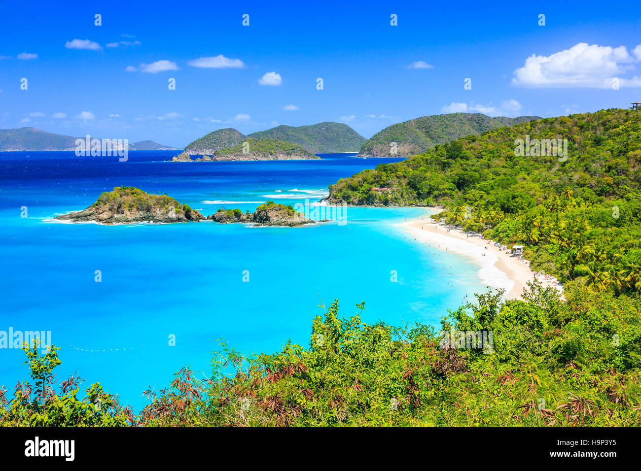 Karibik, Trunk Bay auf der Insel St. John, US Virgin Islands Stockbild