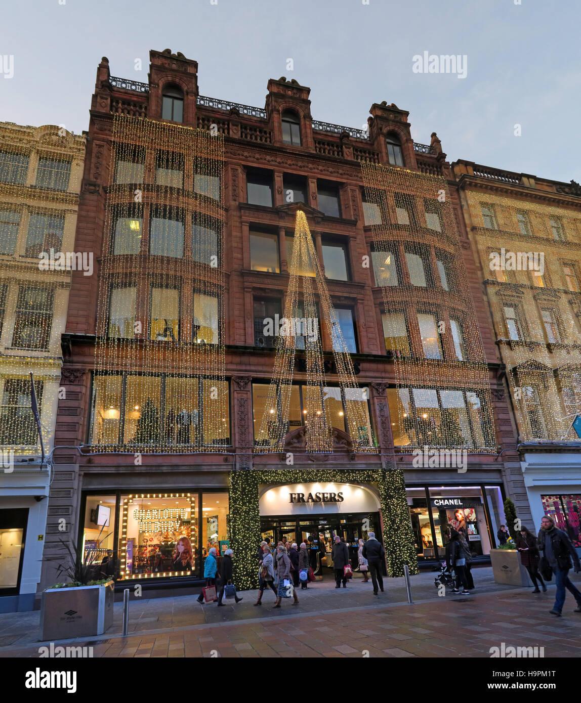 Laden Sie dieses Alamy Stockfoto Fraser Dept Store, 45 Buchanan St, Weihnachten, Glasgow, Schottland, UK - H9PM1T