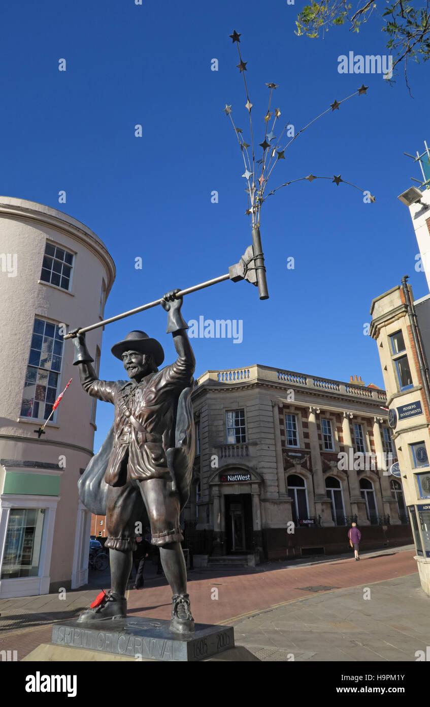 Laden Sie dieses Alamy Stockfoto SW Bridgwater, Somerset, England - Guy Fawkes statue - H9PM1Y