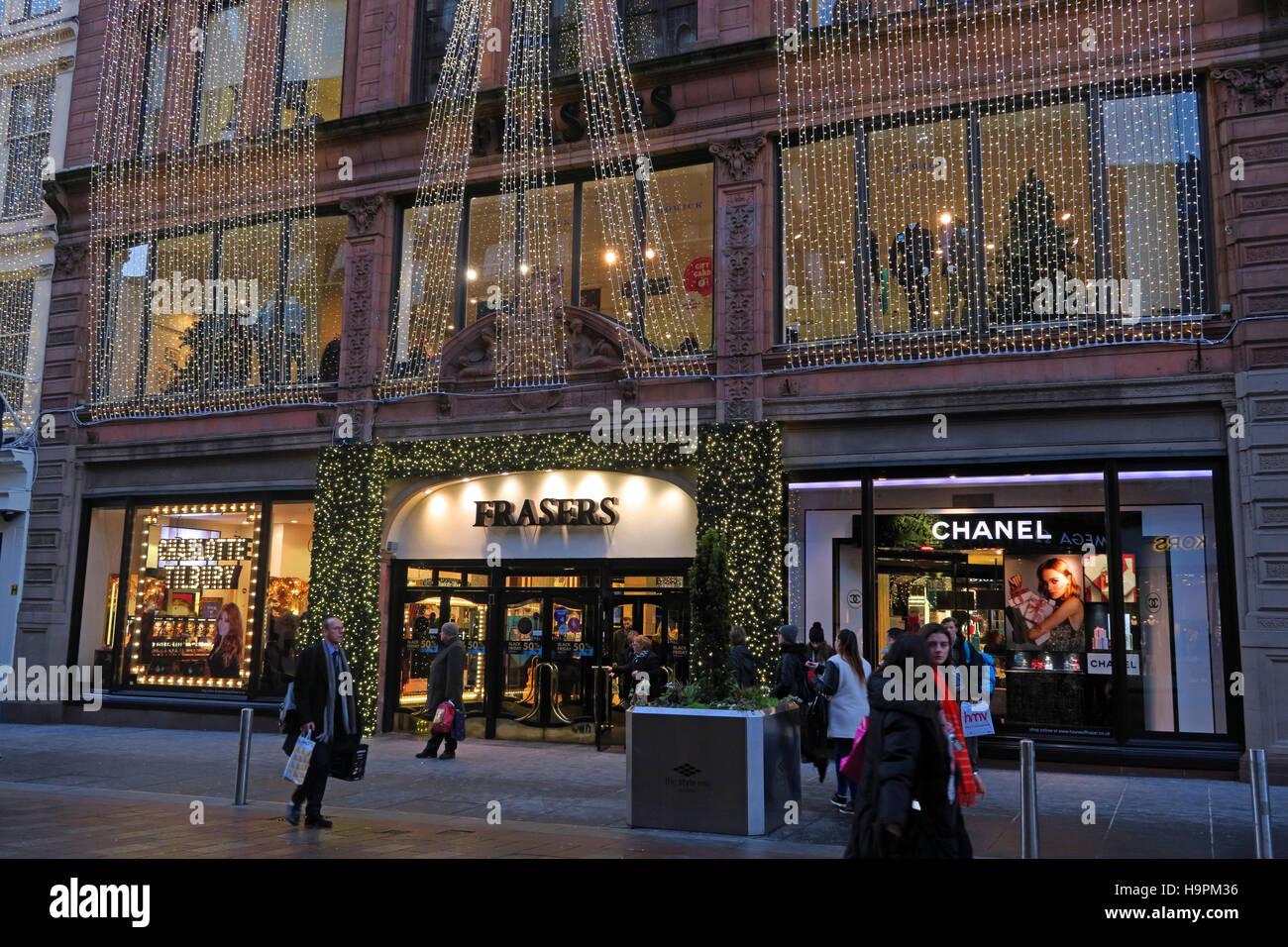 Laden Sie dieses Alamy Stockfoto Fraser Dept Store, 45 Buchanan St, Weihnachten, Glasgow, Schottland, UK - H9PM36