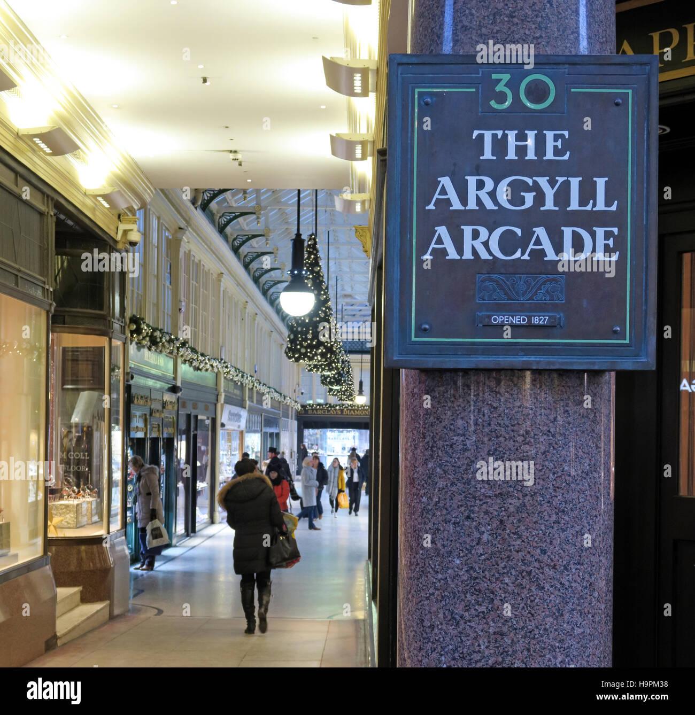Laden Sie dieses Alamy Stockfoto Eingang nach Argyll Arcade, Glasgow, Schottland, Großbritannien - H9PM38