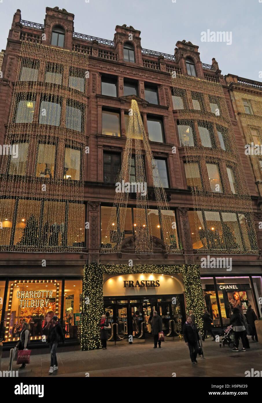 Laden Sie dieses Alamy Stockfoto Fraser Dept Store, 45 Buchanan St, Weihnachten, Glasgow, Schottland, UK - H9PM39