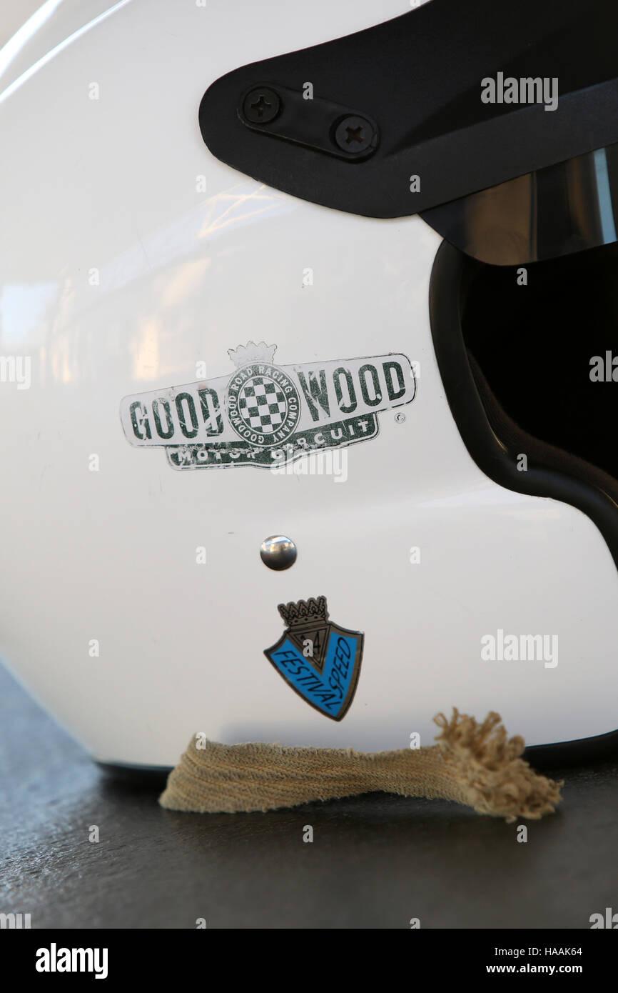 Rennstrecke Goodwood Pressetag, Goodwood, Chichester, West Sussex, UK. Stockfoto