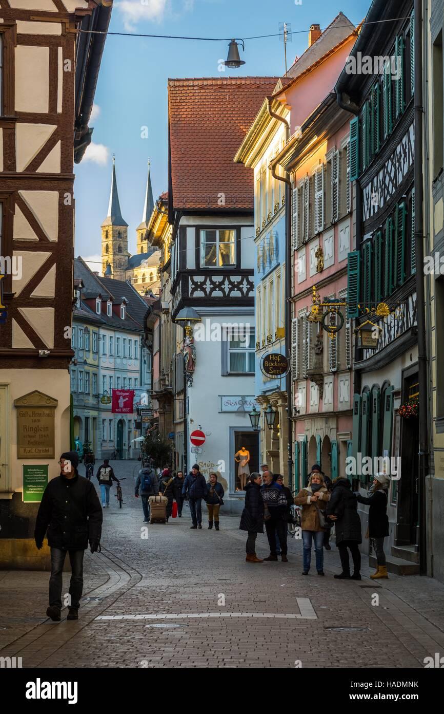 Bamberg-Innenstadt (Bamberger Altstadt) Stockbild